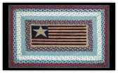 Braided Rug Flag Rectangle