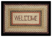 Braided Rug Welcome Rectangle
