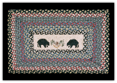 Braided Rug Bear Rectangle
