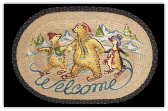 Braided Rug Polar Bear Welcome 20X30 Oval