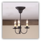 Primitive Wrought Iron Ceiling Light