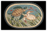 Braided Rug Sea Turtles