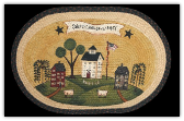 Braided Rug Sweet Land of Liberty 20X30 Oval