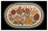 Braided Rug Wildflowers 20X30 Oval