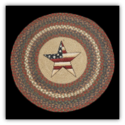 Braided Rug Round All American Star