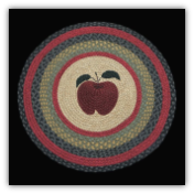Braided Rug Round Apple