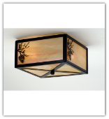 Balsam Pine Flush Mount