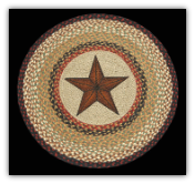 Braided Rug Round Barn Star