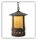 Fulton Northwoods Bear CreeK Large Lantern Style Wall Sconce
