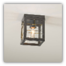 Ceiling Light with Brass Bars Country Tin Finish