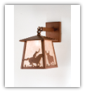 Cowboy and Steer Wall Sconce