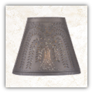 Fireside Pierced Tin Lamp Shade- Willow Design