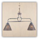 Franklin Hanging Light with Chisel Design Kettle Finish