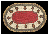 Braided Rug Gingerbread Men 20X30 Oval
