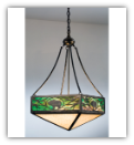 Lone Grizzly Bear Inverted Pendant Light