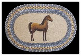 Braided Rug Oval Horse
