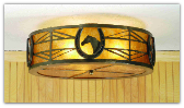 Horseshoe Flush Mount Ceiling Light