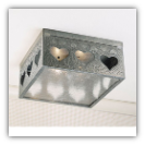 Open Heart Ceiling Light Large