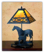 Mare & Foal Table Lamp 2
