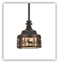 Moose at Dusk Mini Pendant Light
