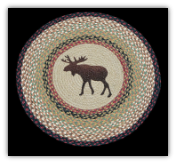 Braided Rug Round Moose