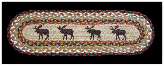 Braided Rug Moose Stair Treads (Set of 4)