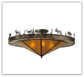 Wildlife Flushmount Large Ceiling Light