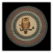Braided Rug Round Owl