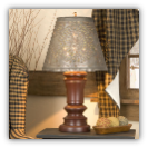 Peppermill Rustic Wooden Table Lamp