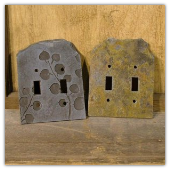 Slate Natural Switch & Outlet Plates-PAIR