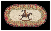 Braided Rug Rocking Horse