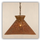 Roosevelt Pierced Tin Shade Light