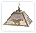 Running Horse Pendant Shade Light