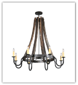 Barrel Stave 8 arm  Chandelier