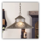 Shopkeeper Shade Light w/Chisel Design Blackened Tin