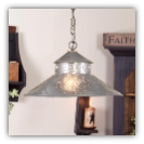 Shopkeeper Shade Light w/Chisel Design Heritage Tin