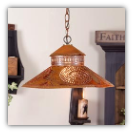 Shopkeeper Shade Light w/Chisel Design Rustic Tin