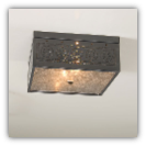 Square Ceiling Light with Chisel Design-Country Tin Finish
