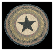 Braided Rug Round Star