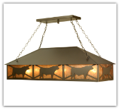 Steer Oblong Pendant 50 inches