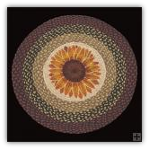 Braided Rug Round Sunflower