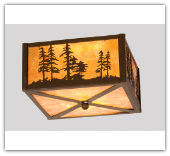 Tall Pines Flush Mount Ceiling Light