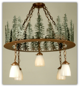 Tall Pines Chandelier