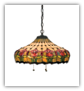 Colonial Tulip Stained Glass Shade Light
