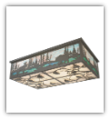 Wildlife at Pine Lake Flushmount Ceiling Light