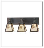 Winter Pine Triple Vanity Sconce
