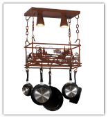 Fisherman Pot Rack Light Fixture