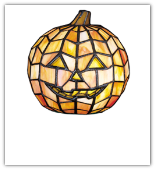Jack-O-Lantern Glass Accent Light