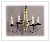 Cottage Wooden 4 arm Chandelier