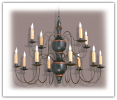CH-V 12 arm Wooden Chandelier